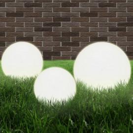 Juego de lámparas de bola LED 6 uds esféricas PMMA 20/30/40 cm
