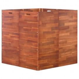 Jardinera de madera de acacia 100x100x100 cm