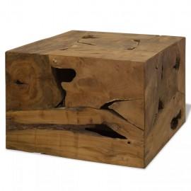 Mesa de centro 50x50x35 cm de madera de teca genuina marrón