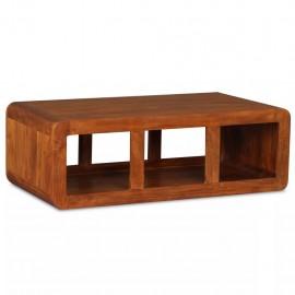 Mesa de centro de madera maciza acabado de Sheesham 90x50x30 cm