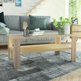 Mesa de centro de madera aglomerada 100x59x42 cm color roble