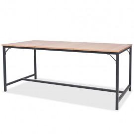 Mesa de comedor de madera de fresno 180x90x76 cm