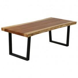 Mesa de centro de madera maciza de suar 102x56x41 cm