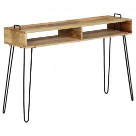 Mesa consola de madera maciza de mango 115x35x76 cm