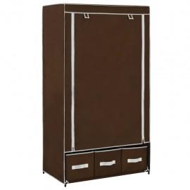 Armario de tela marrón 87x49x159 cm