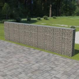 Muro de gaviones con cubiertas acero galvanizado 600x30x150 cm