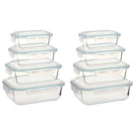 Recipientes para guardar comida 8 unidades vidrio