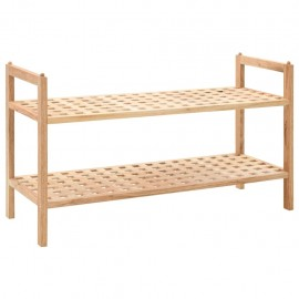 Zapatero de madera maciza de nogal 69x26x40 cm