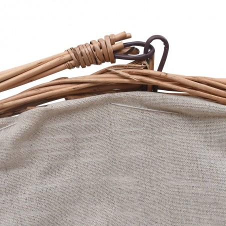 Cesta para leña con asa sauce natural 60x44x55 cm