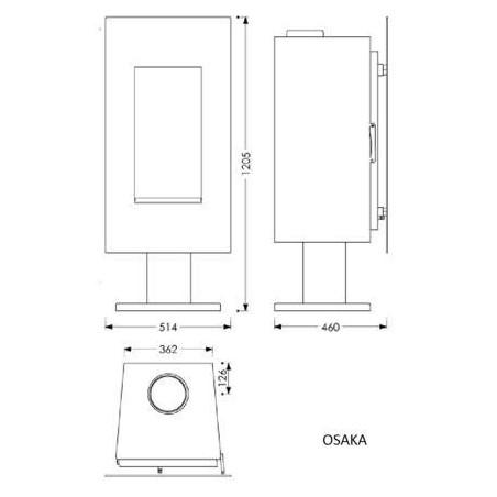 Estufa de leña modelo Osaka