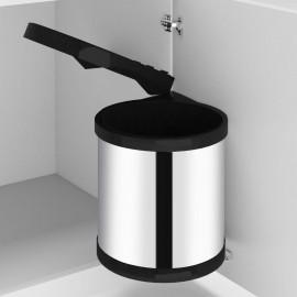 Papelera de cocina empotrada acero inoxidable 8 L