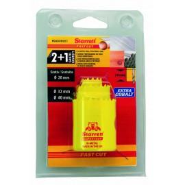 Corona Perfororadora  20-32-40Mm Bimetal Fast Cut Starrett 3 Ud