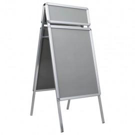 Caballete para carteles publicitarios A1 con cabecera aluminio