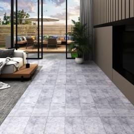 Lamas para suelo de PVC autoadhesivas gris cemento 5,02 m² 2 mm