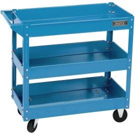 Draper Tools Carrito de herramientas de 3 niveles azul