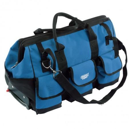 Draper Tools Bolsa herramientas con ruedas azul negro 60x30x35cm 58 L