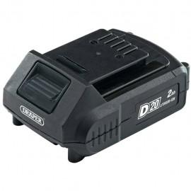 Draper Tools Batería de iones de litio D20 2 Ah 20 V