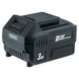 Draper Tools Batería de iones de litio D20 3 Ah 20 V