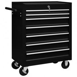 Carrito caja de herramientas 7 cajones negro