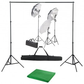 Kit de estudio fotográfico con set de luces y telón de fondo