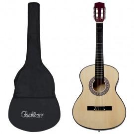 """Guitarra clásica para principiantes con funda 4/4 39"""""""