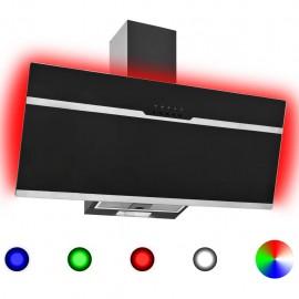 Campana extractora RGB de LED acero inox. vidrio templado 90cm