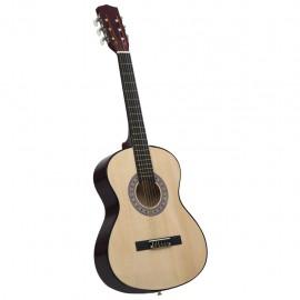 "Guitarra clásica para principiantes madera de tilo 4/4 39"""