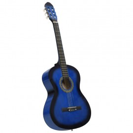 """Guitarra clásica para principiantes madera de tilo azul 4/4 39"""""""