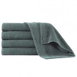 Toallas de ducha 5 uds algodón verde 450 g/m² 70x140 cm