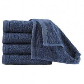 Toallas de cortesía 10 uds algodón azul marino 450 g/m² 30x50cm