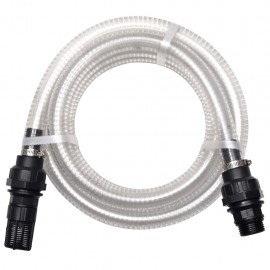 Manguera de succión con conectores 10 m 22 mm blanca