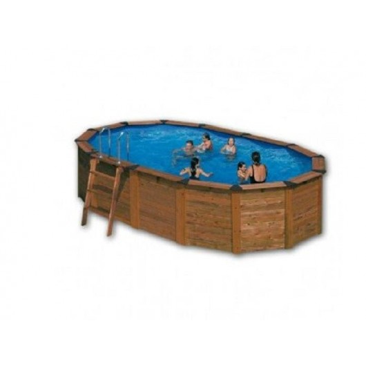Piscina acero aspecto madera Pacific 500 x 350 x 120 cm