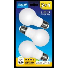 Lampara Iluminacion Estandar Led Garza 3000K 3 Pz
