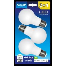 Lampara Iluminacion Estandar Led Garza 6500K 3 Pz
