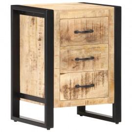 Mesita de noche de madera maciza de mango 40x35x55 cm