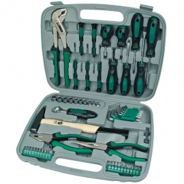 Brüder Mannesmann Set de herramientas 57 piezas verde 29057