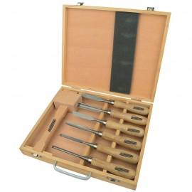 Brüder Mannesmann Set de herramientas para tallar madera 7 pzas 66107