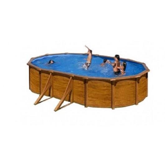 Piscina acero aspecto madera Pacific 610 x 375 x 120 cm