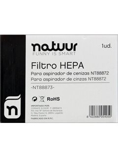 Filtro Aspirador Ceniza Hepa 18Lt Volcany Natuur Nt88873