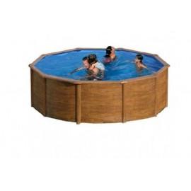 Piscina acero aspecto madera Silicia  350 x 120 cm