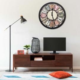 Reloj de pared de MDF multicolor 80 cm