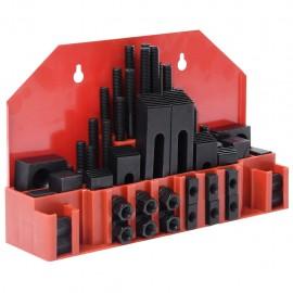 Set de sujeción 58 piezas de acero T ranura M12
