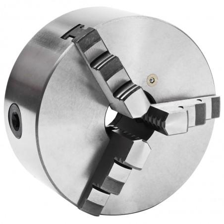 Mandril de torno autocentrante de 3 mordazas 160 mm acero