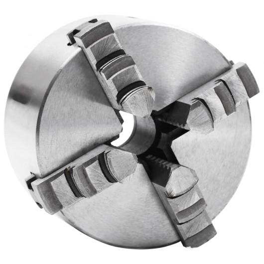 Mandril de torno autocentrante de 4 mordazas 100 mm acero