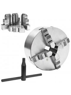 Mandril de torno autocentrante de 4 mordazas 200 mm acero