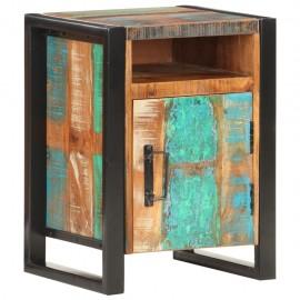 Mesita de noche de madera maciza reciclada 40x35x55 cm