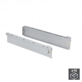 Kit cajón de cocina Ultrabox, altura 86 mm, prof. 450 mm, Acero, Gris metalizado, 10 ud.