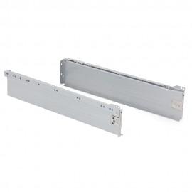 Kit cajón de cocina Ultrabox, altura 118 mm, prof. 500 mm, Acero, Gris metalizado
