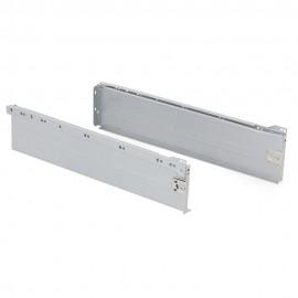 Kit cajón de cocina Ultrabox, altura 150 mm, prof. 500 mm, Acero, Gris metalizado