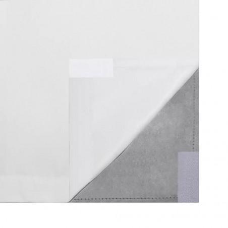Cortinas opacas 2 ud doble capa 140x245cm blanco ahorro energía